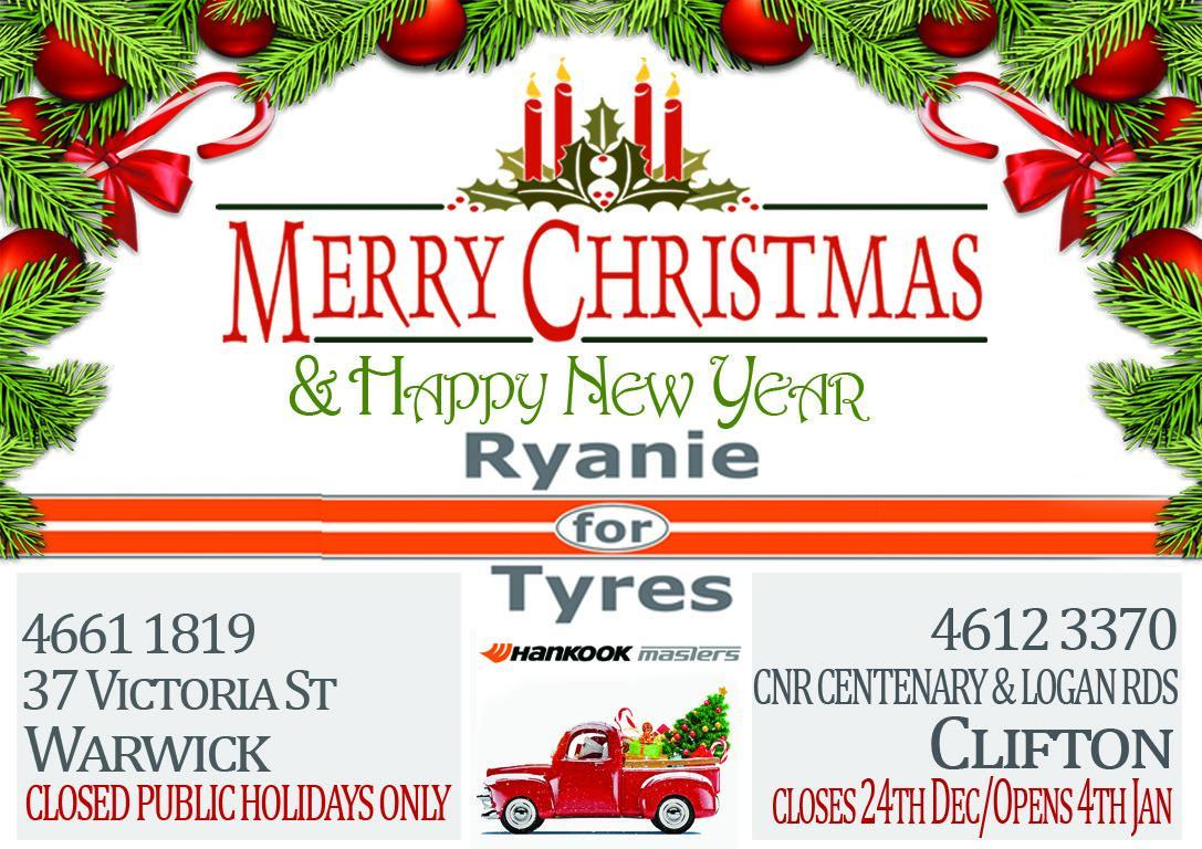 Merry Christmas & Happy New Year - Ryanie For Tyres